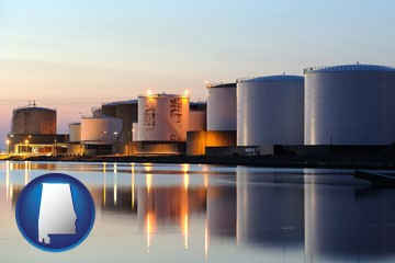fuel oil tanks - with Alabama icon